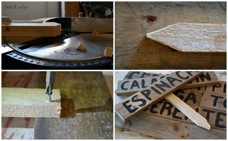 Con este diy pondremos bonita nuestra huerta, haremos unos sencillos carteles de madera