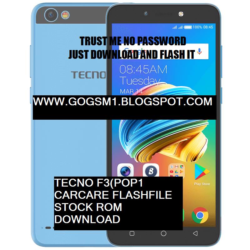 DOWNLOAD FREE Tecno F3 (POP1) factoryRom firmware file   FIX HANG ON