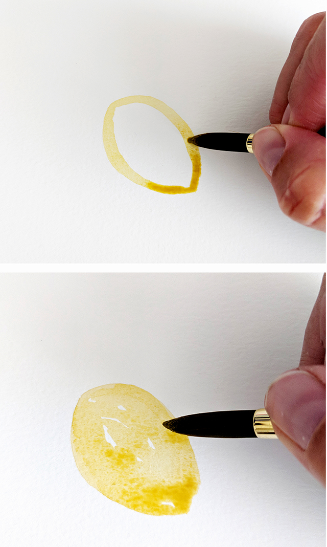 How to Paint a Watercolor Lemon