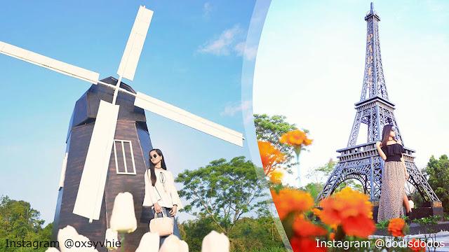 The World Landmarks Merapi Park Sleman, Selfie dengan Berbagai Icon Negara