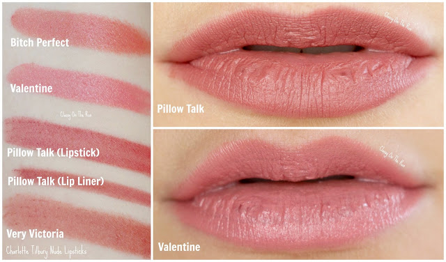charlotte tilbury valentine pillow talk swatch review