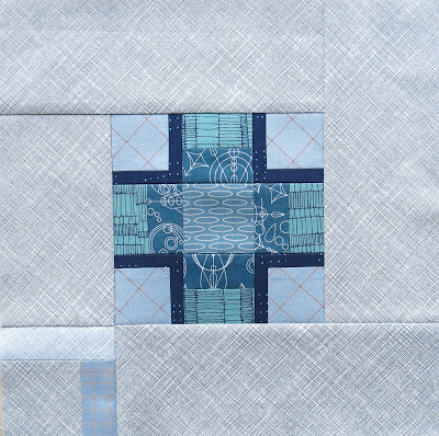 Modern sampler quilt - Block #13 - Inspired by Tula Pink City Sampler