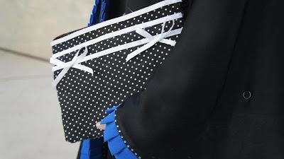 purse receipt organizer with pattern