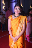 Shalini Pandey in Beautiful Orange Saree Sleeveless Blouse Choli ~  Exclusive Celebrities Galleries 043.JPG