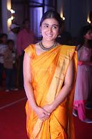 Shalini Pandey in Beautiful Orange Saree Sleeveless Blouse Choli ~  Exclusive Celebrities Galleries 043.JPG