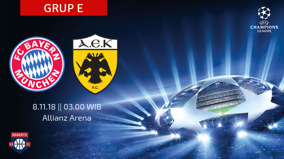 Streaming Bayern Munchen vs AEK Athena