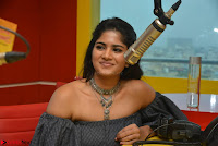 Mega Akash in a sleeveless Off Shoulder Cute Dress Stunnign beauty at Radio Mirchi Promoting Movie LIE ~ Celebrities Galleries 010.JPG