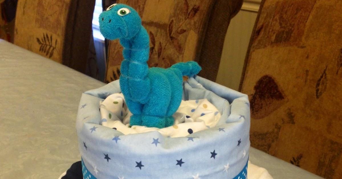 Marilyn S Diaper Castle Dinosaur Diaper Cake