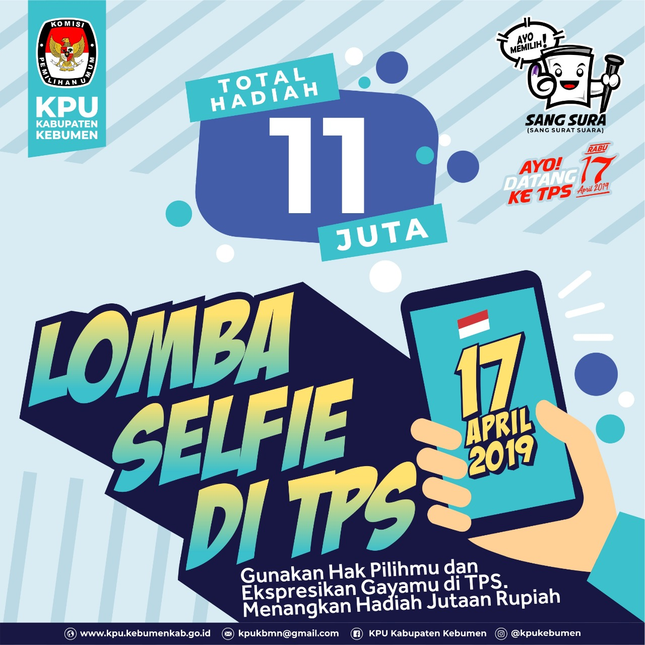 Usai Coblosan, KPU Kebumen Gelar Lomba Selfi Berhadiah Total Rp 11 Juta
