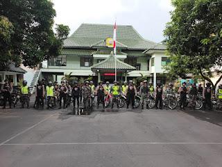 Masa Tenang, Polres Lumajang Bersama KODIM 0821 Gelar Patroli Bersama