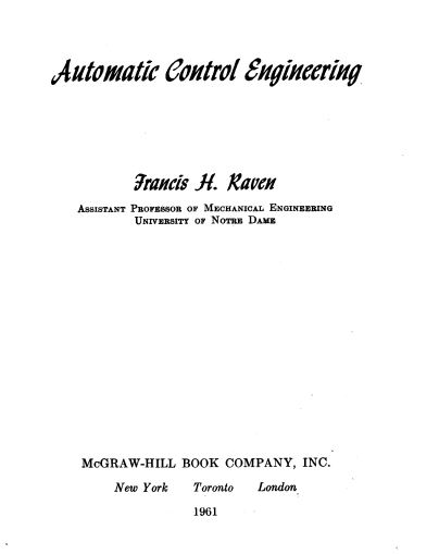 SciTech Entertainment Automatic Control Systems By FARID GOLNARAGHI - control systems engineering pdf