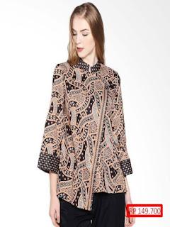 Baju Batik Wanita Modern Kombinasi