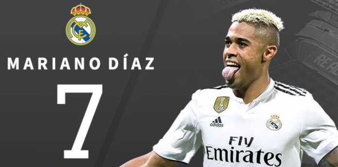 Mariano Diaz Pakai Nomor Tujuh di Real Madrid