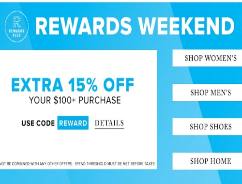 Hudson's Bay 15% Off Rewards Weekend Promo Code
