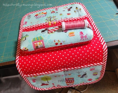 Sit & Stitch Pincushion, front top
