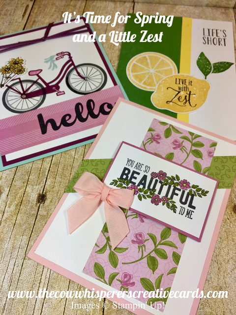 Card, Stampin UP, Bike Ride, Lemon Zest, Just Add Text