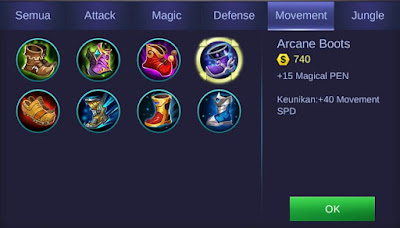 Arcane Boots Mobile Legends