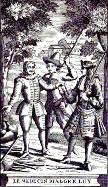 Anónimo - Grabado para una edición de Le Medecin Malgre Lui - 1719