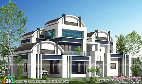 Round roof house plan