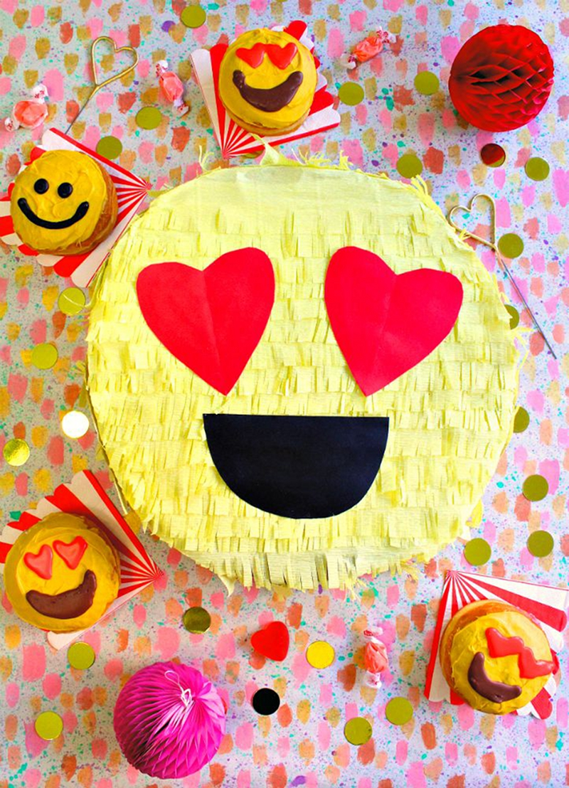 Emoji Party Pinata - via BirdsParty.com
