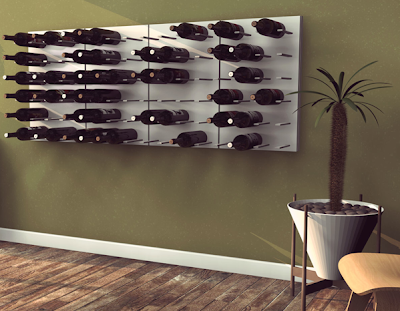 wall-mounted modular wine storage system