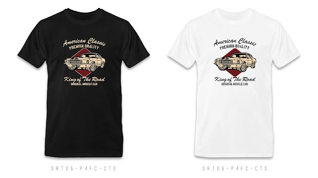 SRT05-P4FC-CTS Retro T Shirt Design, Custom T Shirt Printing