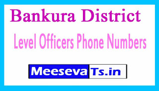 Bankura Phone Numbers/District Level Officers Mobile Numbers West Bengal