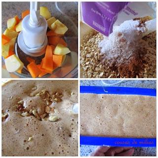Pastel de calabaza y manzana, sin gluten y sin lactosa