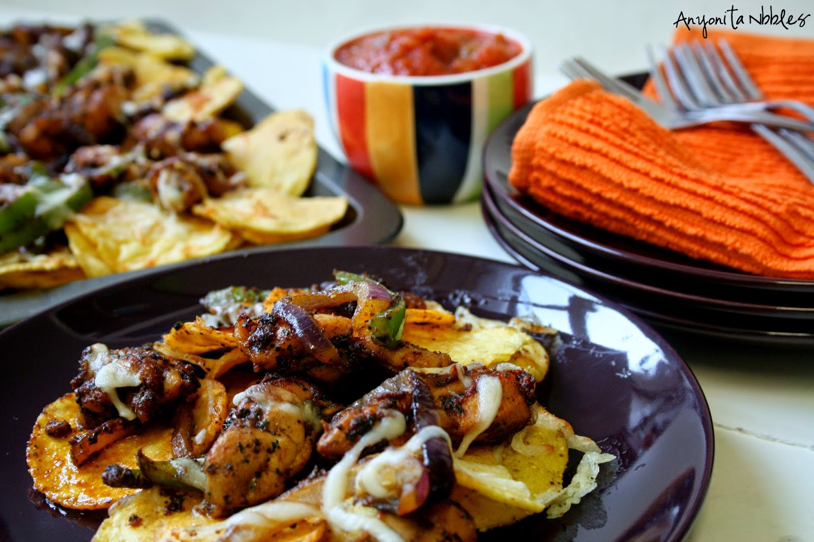 Juicy chicken combines with delicious baked nachos in this incredibly simple gluten free meal