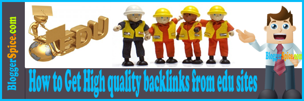 How to Get High quality backlinks from edu sites