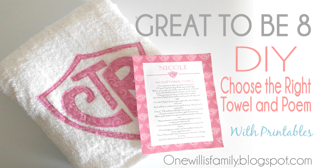 photo relating to Printable Towels named 1 Willis Spouse and children: CTR Towel Guidebook With Poem and Printable