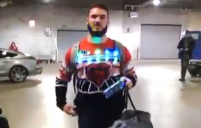 Mitch Trubisky ugly Chicago Bears Christmas sweater