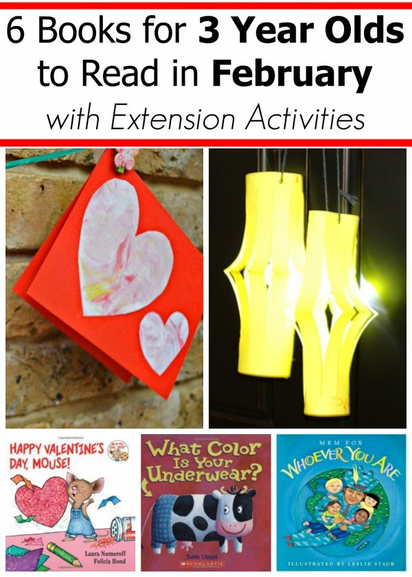 Books for 2 and 3 Year Olds with Extension Activities