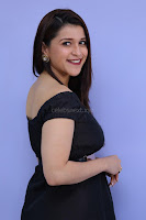 Mannara Chopra in Short Off Shoulder Black Dress ~  Exclusive 004.JPG