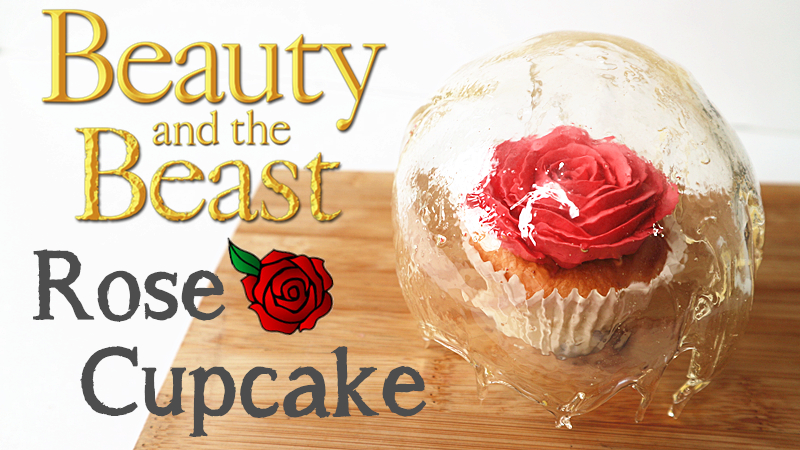 Beaty and the beast Rose Cupcake 美女與野獸玫瑰杯子蛋糕