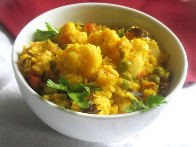 lentil cauliflower pulao