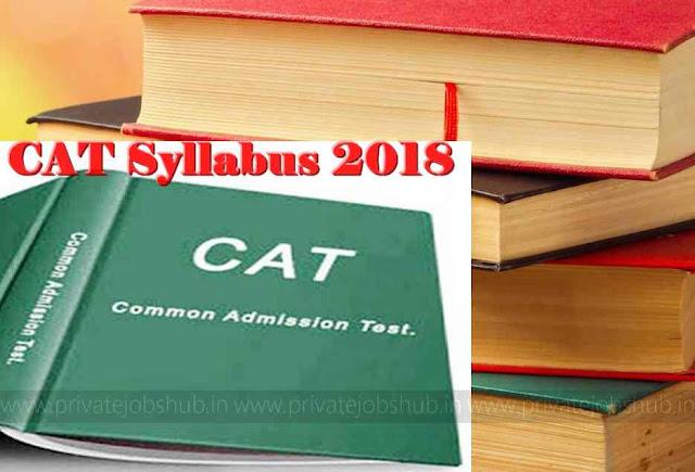 CAT Syllabus 2018