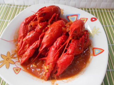 531° Receta: Cangrejos De Rio En Salsa De Tomate Picante