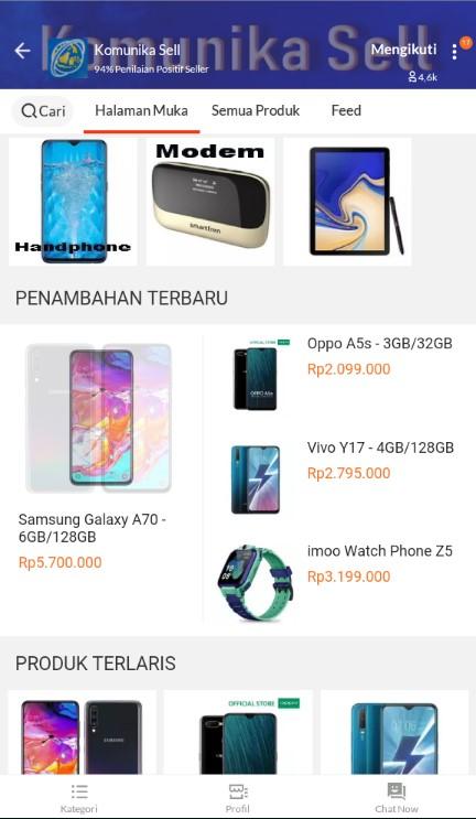 Beranda Toko Handphone Terlaris Komunika Sell di Lazada.