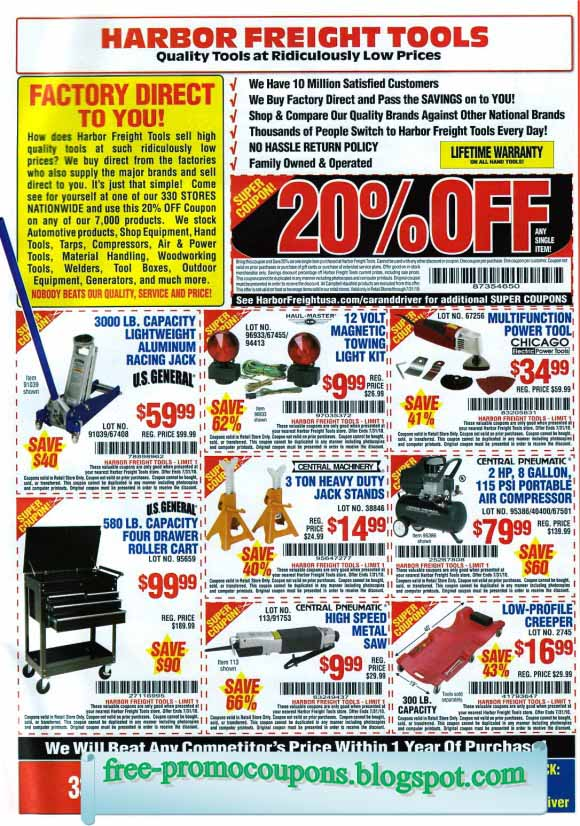 harbor freight tools coupon code online