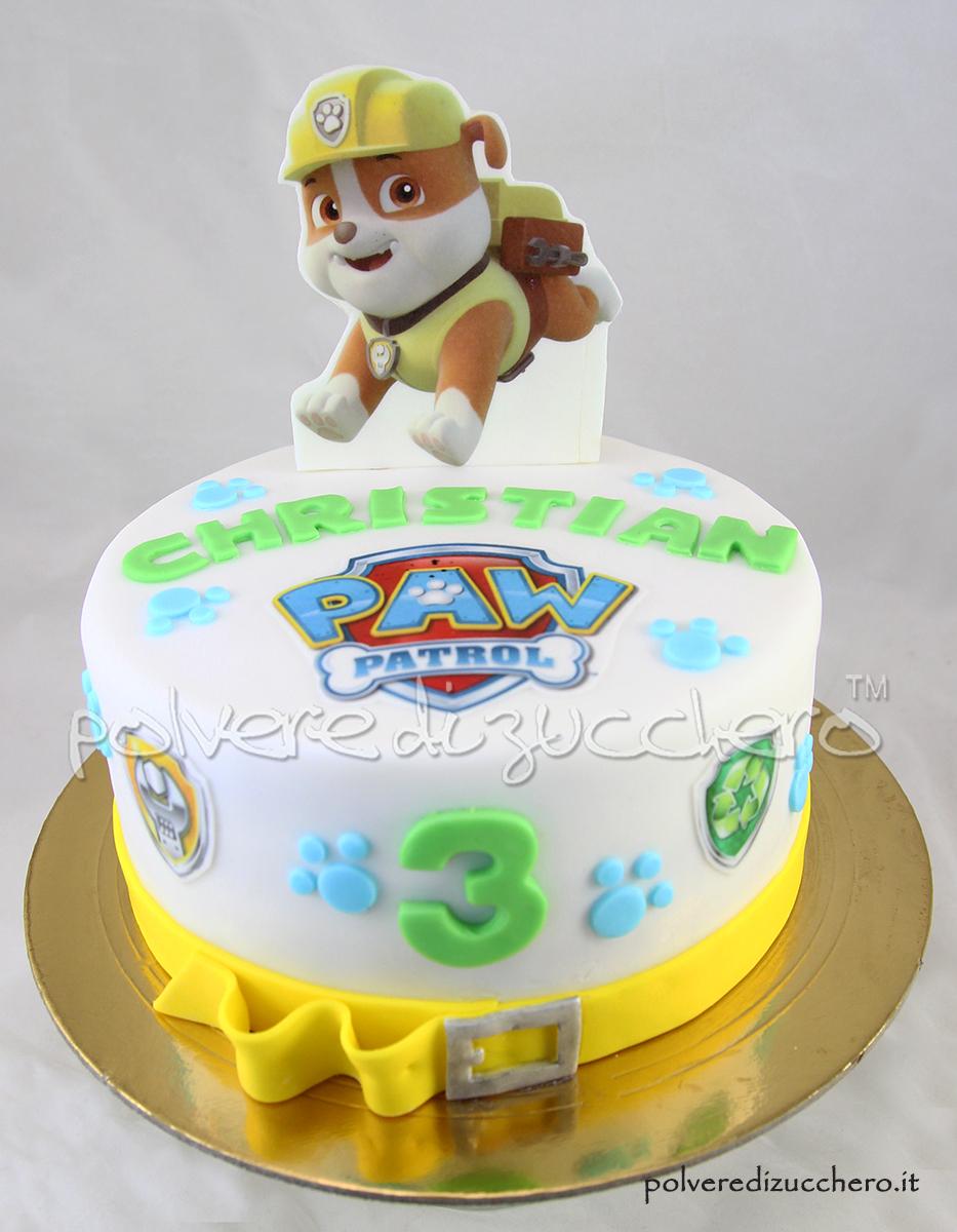 Favoloso Torta decorata Paw Patrol per il compleanno di un bimbo con il  GR35