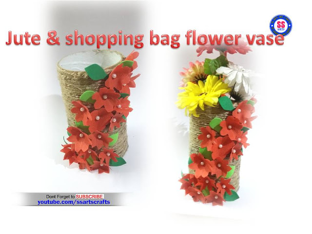 Here is shopping bag crafts,jute crafts,art & craft ideas with jute,how to make flower vase using jute,jute lamp ideas,jute wall art,kids summer crafts with jute,jute wall decor ideas,jute hangings,how to make jute flowers,jute baskets,jute birds nest,how to make flower vase using jute and shopping bag ssartscrafts youtube channel videos