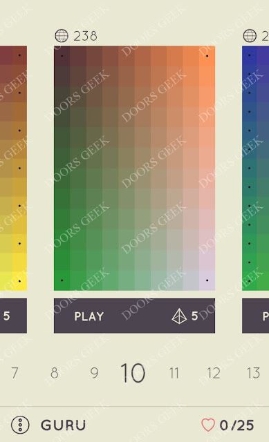 I Love Hue Guru Level 10 Solution, Cheats, Walkthrough