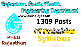 Rajasthan PHED ITI Technician Syllabus