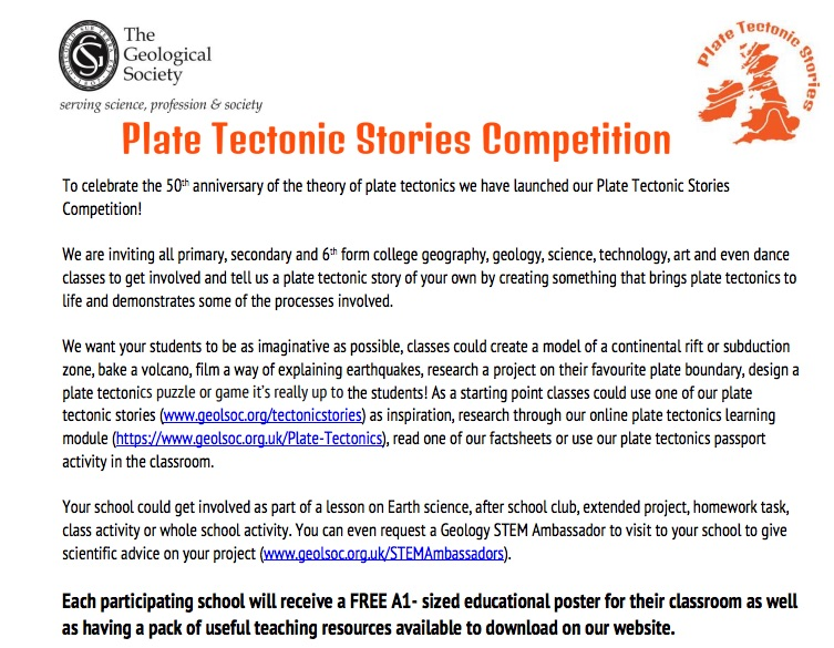 LivingGeography: Plate Tectonics Poster Competition