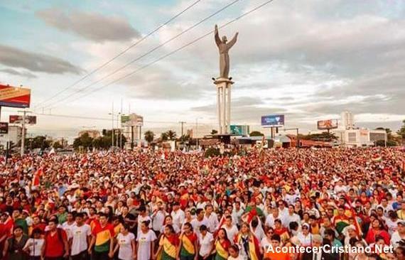 Manifestación de cristianos en Bolivia