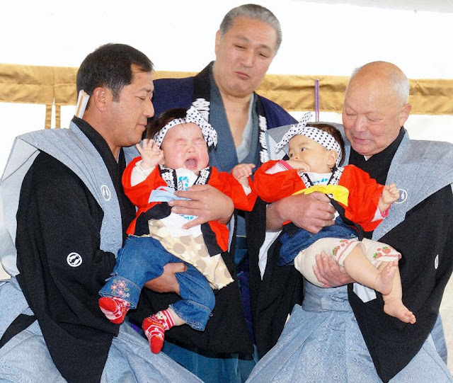 Baby Crying Festival at Mikumano Shrine, Hanamaki City, Iwate