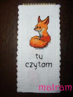 haftowana zakładka lis