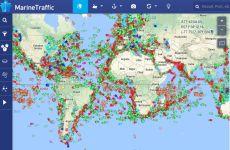 MarineTraffic: web que muestra el tráfico marítimo mundial en tiempo real en un mapa online
