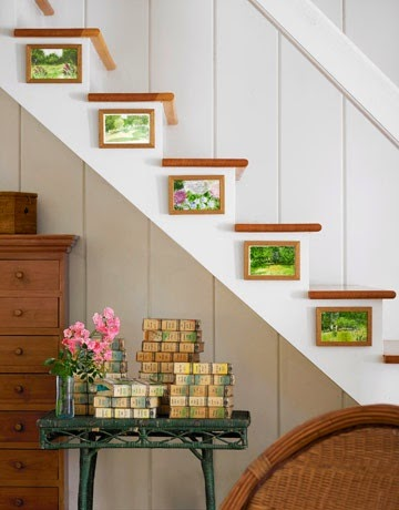 50 Creative Staircase Wall decorating ideas, art frames ... on Creative Staircase Wall Decorating Ideas  id=76686